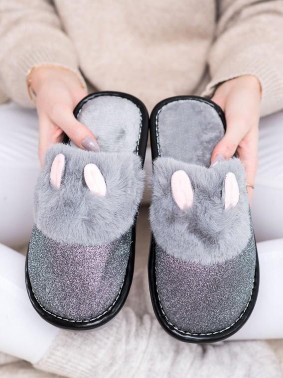 Brokátové papuče s uškami
