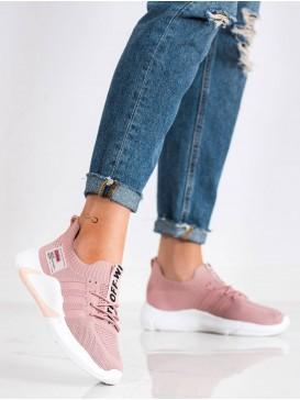 Ružové športové topánky White Off