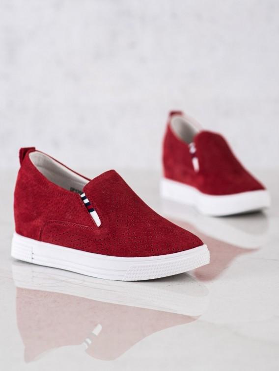 Kožené topánky na kline