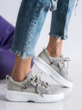 Šedé sneakersy na platforme