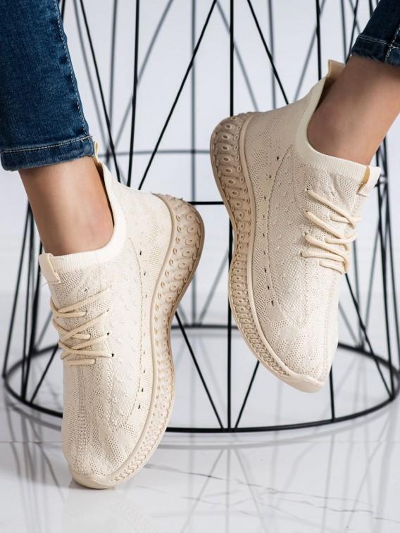 Béžové textilné sneakersy