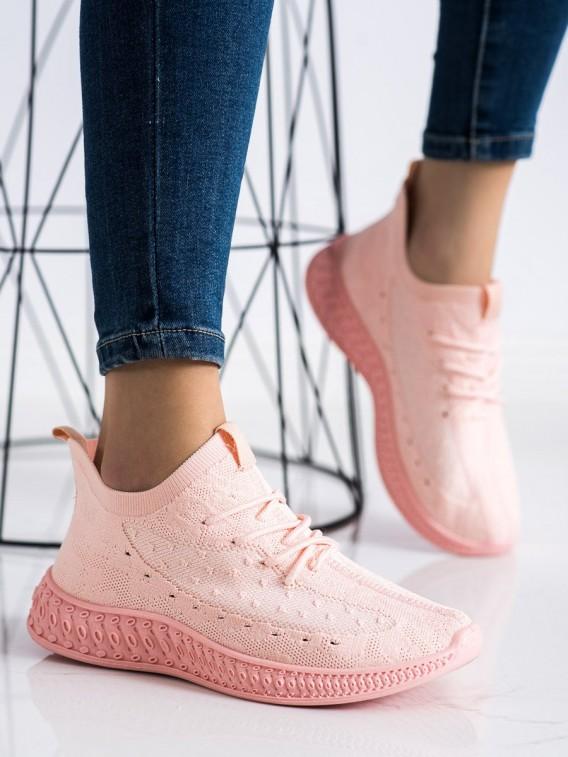 Ružové textilné sneakersy