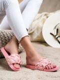 Textilné šlapky s kryštálmi