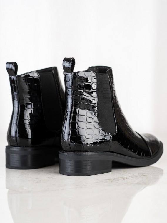Lakované topánky Snake Print