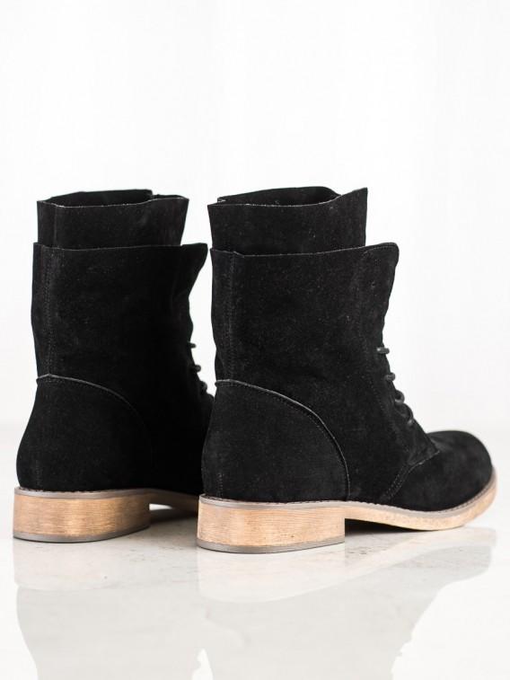 Vysoké semišové členkové topánky