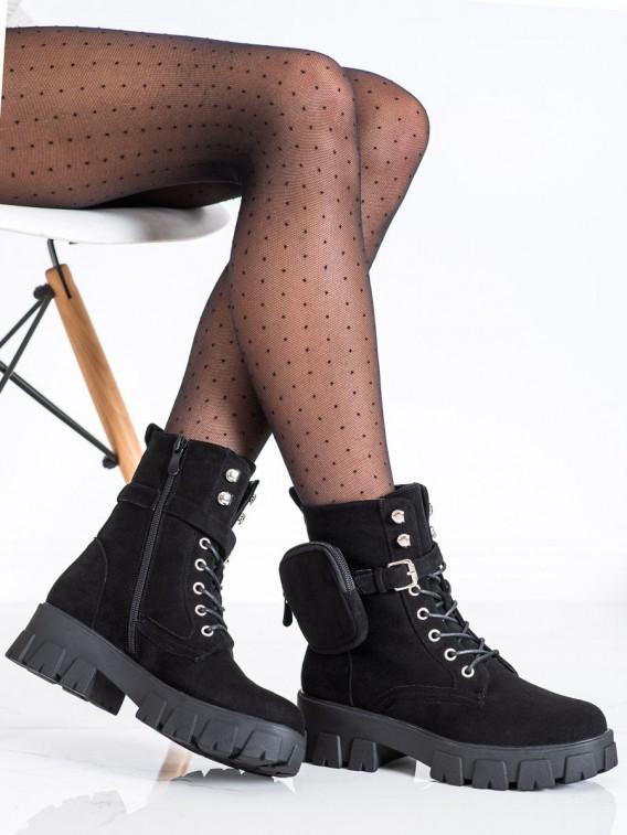 Semišové topánky s kapsičkou